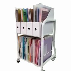 Inspiring Paper Storage Ideas - All Time Best Storage Decor Ideas. Paper Storage, Paper Organization, Organizing, Scrapbook Supplies, Craft Supplies, Birthday Gift Bags, Types Of Craft, Back To Basics, Decorative Storage