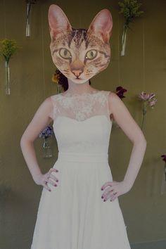 máscara personalizada do gato do casal!