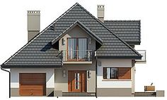 Projekt domu Opałek II N 135,51 m2 - koszt budowy 225 tys. zł - EXTRADOM Home Fashion, House Plans, Shed, Outdoor Structures, House Design, Cabin, How To Plan, Mansions, House Styles