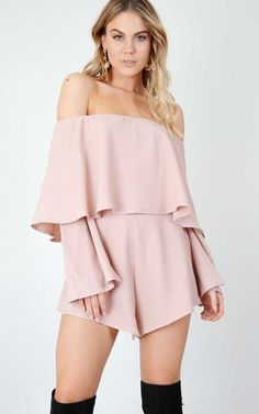 b4fd69d8e17 On Your Mind Playsuit In Blush Produced