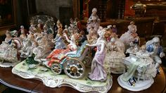 Huge collection of 19th century Porcelain Figures