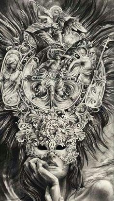God Tattoos, Body Art Tattoos, Sleeve Tattoos, Cool Sketches, Tattoo Sketches, Tattoo Drawings, Clock Tattoo Design, Tattoo Designs, Spartan Tattoo