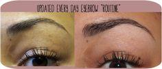Eyebrow routine using MUA Makeup Academy Eyebrow Brush E7