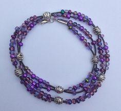 Double Wrap Beaded Leather Bracelet by JensTreasures1 #jenstreasures1jewelry