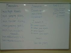Workout for advanced PE and weightlifting class