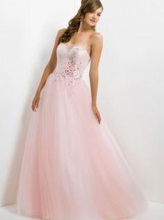 A-line Pink Tulle Long Formal Dress Evening Dress/Prom Dress 5328