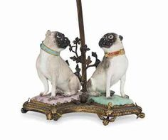 A PAIR OF MEISSEN MODELS OF SEATED PUG-DOGS | CIRCA 1745-50 | 19th ...