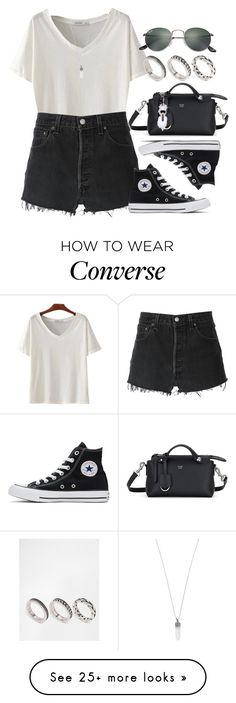 """Sin título #12698"" by vany-alvarado on Polyvore featuring Ray-Ban, RE/DONE, Converse, Fendi, ASOS and Marc Jacobs"