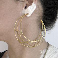 AnaClaudiaDesign, Etsy - Truss-t Brass Plated Hoops