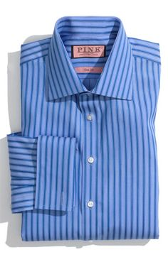 2-Ply Cotton Pinpoint Check Button Down Collar Dress Shirt | Paul ...