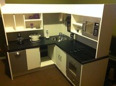 diy kids kitchen  how amazing is this! Big enough for all the kids to play with it at once