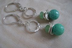 Colors of the Sea Silver Earrings by smisko on Etsy, $36.00