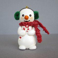 Snowman With Earmuffs Ornament