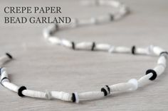 I've learned how to make paper beads while still in kindergarten. I remember running home to tell my mom that I wanted a paper bead door cu. Make Paper Beads, How To Make Paper, Crepe Paper Crafts, Diy Paper, Diy Garland, Beaded Garland, Garlands, Crafts To Do, Beaded Bracelets