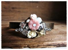 Shabby Chic Cuff Bracelet Romantic Vintage by beevintageredux, $41.00