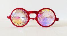 KALEIDOSCOPE CRYSTAL VISION PRISM GLASSES FUTURE EYES ROSE