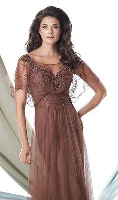 Montage by Mon Cheri - 114905 Long Dress In Brown. ChristenFormal GownsBride  Groom DressBride GownsBridal ... a78c988312b7