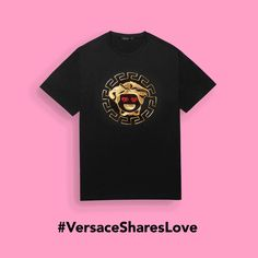 The #Versace Medusa is ready to take over, Emoji style. Explore the brand new #Versace Emoji app and the fun capsule collection of T-shirts for him and for heron versace.com