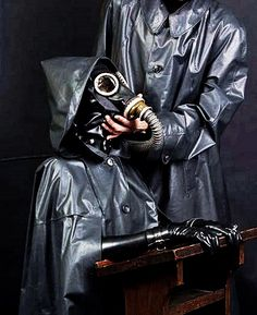 the owner of the Kleppercape nun controls the rubber training and rubber dressage. Latex Pants, Latex Suit, Gas Mask Girl, Latex Men, Latex Hood, Latex Lady, Rubber Raincoats, German Girls, Latex Fashion