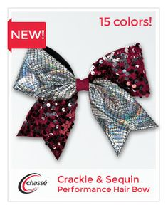 Crackle & Sequin Performance Hair Bow by Chassé