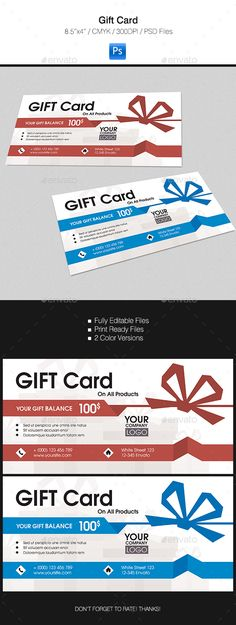 Gift Card #design Download: http://graphicriver.net/item/gift-card/15596570