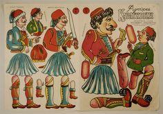 Karaghiozis. Bogen 3 und 4 http://skd-online-collection.skd.museum/en/contents/artexplorer?filter[OBJEKTART]=Bilderbogen