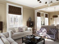 decoration taupe marron gris violet pour peinture murs salon