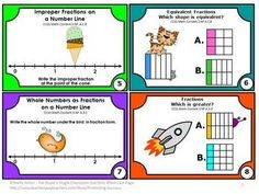 FREE Download Fraction Task Cards for 3rd Grade Common Core Math Games: You will receive eight printable task cards to use as a math review, test prep or quick formative assessment. Task cards are a great alternative to worksheets. Students may play SCOOT, have a scavenger hunt or play other math center games. Try the sampler for free. A student response form and answer key are also provided.