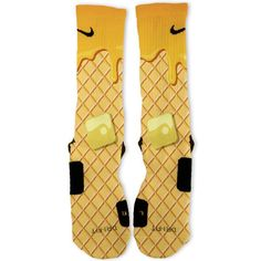 Waffle And Syrup Custom Nike Elite Socks