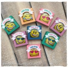 Stampin Up_Verpackung_Give Away_Goodie_Gastgeschenk_Lindt Mini Emoji_Smiley_Schokolade_Stempelfantasie