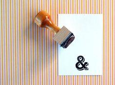Ampersand - Rubber Stamp. $17.00, via Etsy.