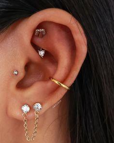 Rook Piercing Jewelry, Rook Jewelry, Ear Piercings Rook, Pretty Ear Piercings, Rook Earring, Cartilage Earrings, Peircings, Jewlery, Amor