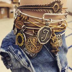 Alex and Ani charm bracelets