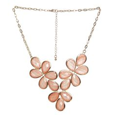 Shimmer Faceted Statement Necklace ($9.50) ❤ liked on Polyvore