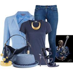R.I.P. B.B. KING by arjanadesign on Polyvore featuring polyvore fashion style Splendid MaxMara Paige Denim Coach Kenneth Jay Lane hats dailydenim