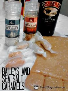 Gift Ideas and a Recipe for (Microwave) Baileys Sea Salted Caramels