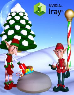 Toon Elf Crew Pack converted and Updated to Iray for DAZ Studio 4.9