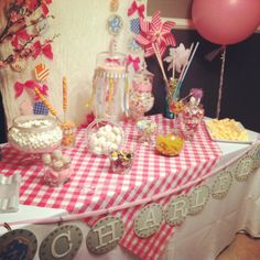 Girl 1st birthday party my friend and I styled