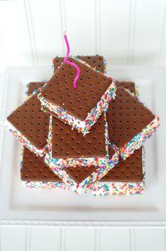 simple and sweet ice cream sandwich birthday cake