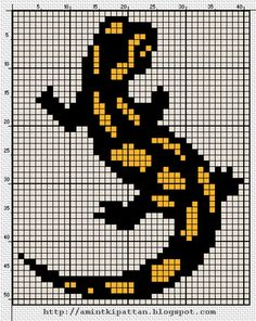 Can also be used in Crochet, Knitting or Latch Hooked Rugs Cross Stitch Charts, Cross Stitch Designs, Cross Stitch Patterns, Motifs Perler, Perler Patterns, Seed Bead Patterns, Beading Patterns, Embroidery Motifs, Cross Stitch Embroidery