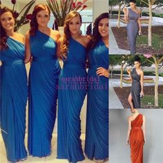 2015 One Shoulder Long Bridesmaid Dresses Slit Bridal Party Gowns For Maid of Honors Cheap Custom Made Gold Purple Plus Size Under 100 Online with $78.75/Piece on Sarahbridal's Store | DHgate.com