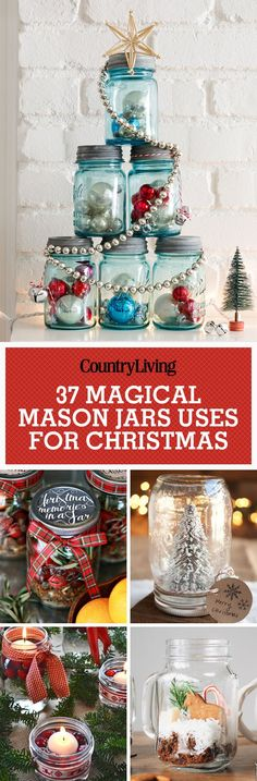 Because it's not a country Christmas without a few Mason jar crafts.