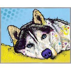 East Urban Home 'Siberian Husky' Graphic Art Print Format:
