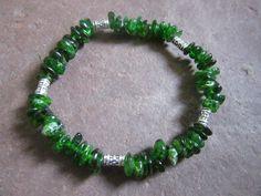 Lovely handmade stretch bracelet natural chrome by CreationsJeiki
