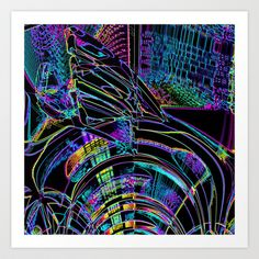 In the Glare of the Night Art Print by David  Gough - $15.00