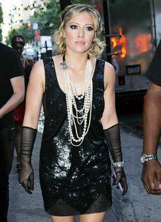 Hilary Duff as a flapper for Gossip Girl season 3.