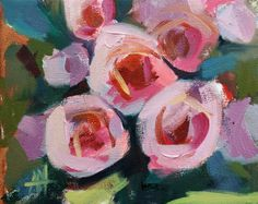 Pink Roses no. 35 Limited Edition Art Print by Angela Moulton