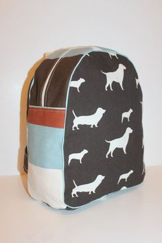 Dogs with Stripe Backpack for a Preschooler by paigeholliday, $35.00