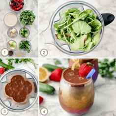 Detox Smoothie Recipe Detox Smoothie Recipes, Green Detox Smoothie, Detox Recipes, Healthy Recipes, Healthy Food, Easy Detox, Vegan Vegetarian, 21 July, Diet