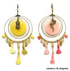 Trop mignonne cette paire de B.O. !! #ladroguerie #bo Tassel Jewelry, Bead Jewellery, Pearl Jewelry, Diy Jewelry, Jewelry Accessories, Handmade Jewelry, Jewelry Design, Jewelry Making, Diy Earrings